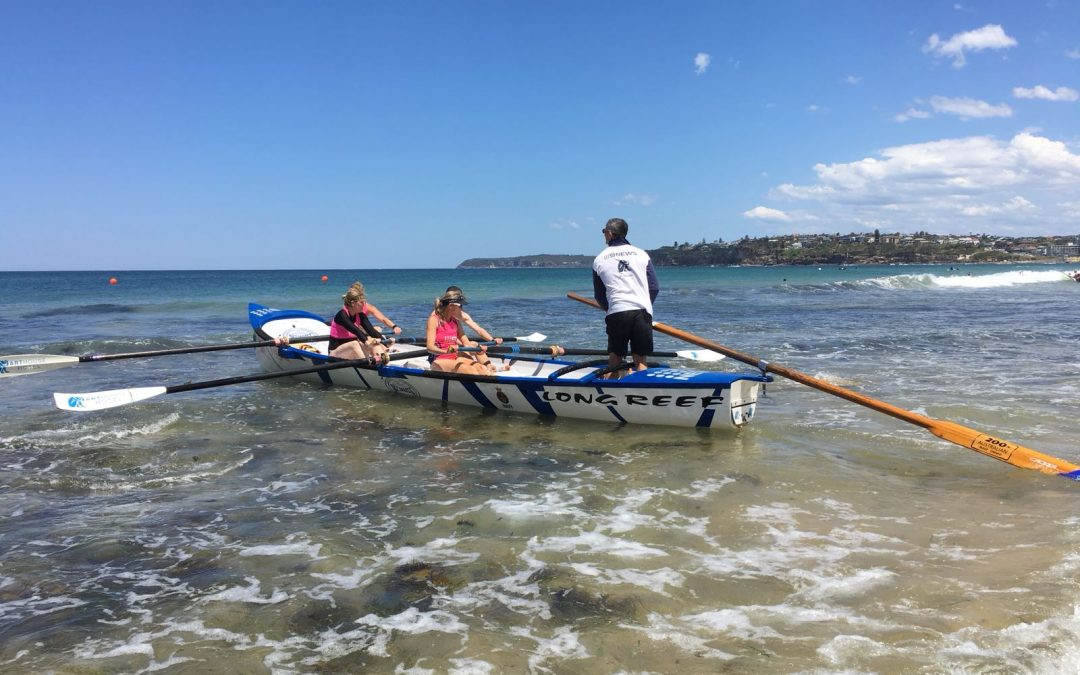 New Bronzies Try Surf Boat Rowing