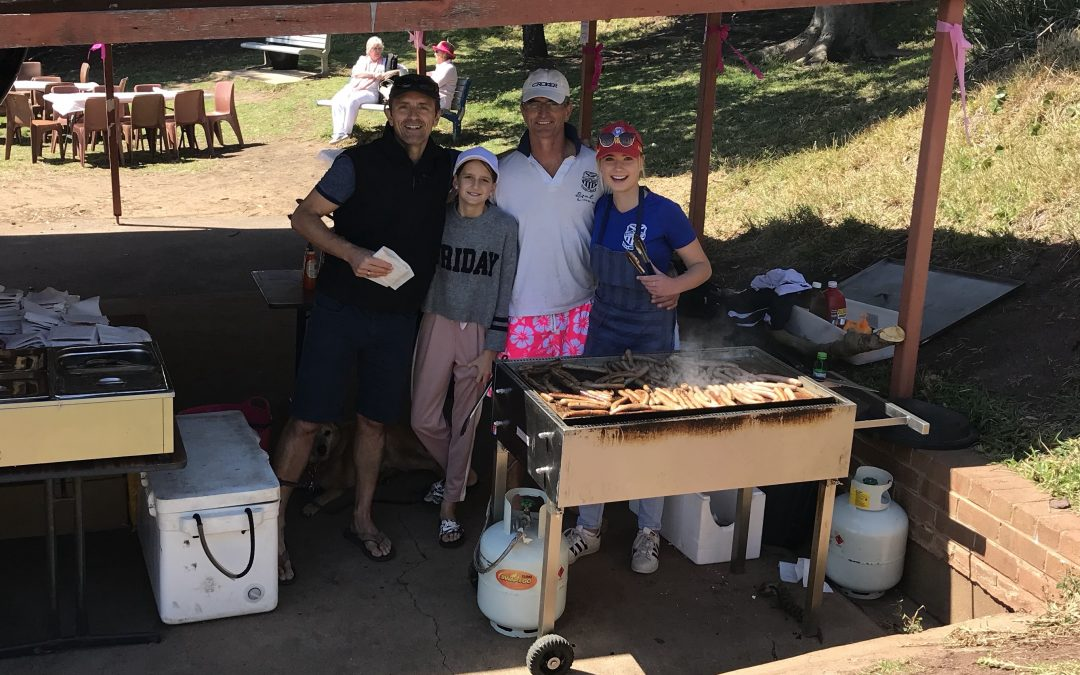 Longy supports Lyn Dawson walk with sausage sizzle