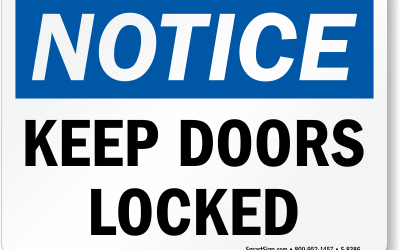 Please lock the doors when you leave