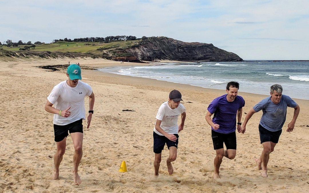Beach running at Longy