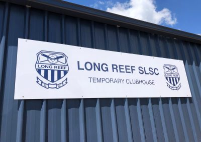 The Shed Exterior - The branding is up