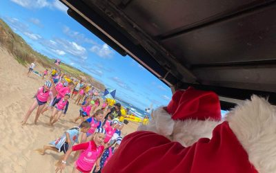 Santa pays a visit to Nippers on Saturday.